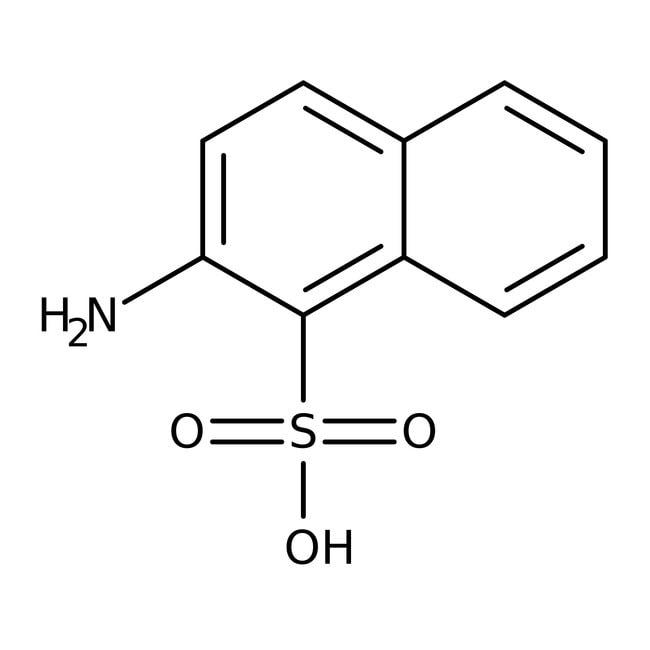 Alfa Aesar™Ácido 2-aminonaftaleno-1-sulfónico, 98% 2500g Alfa Aesar™Ácido 2-aminonaftaleno-1-sulfónico, 98%