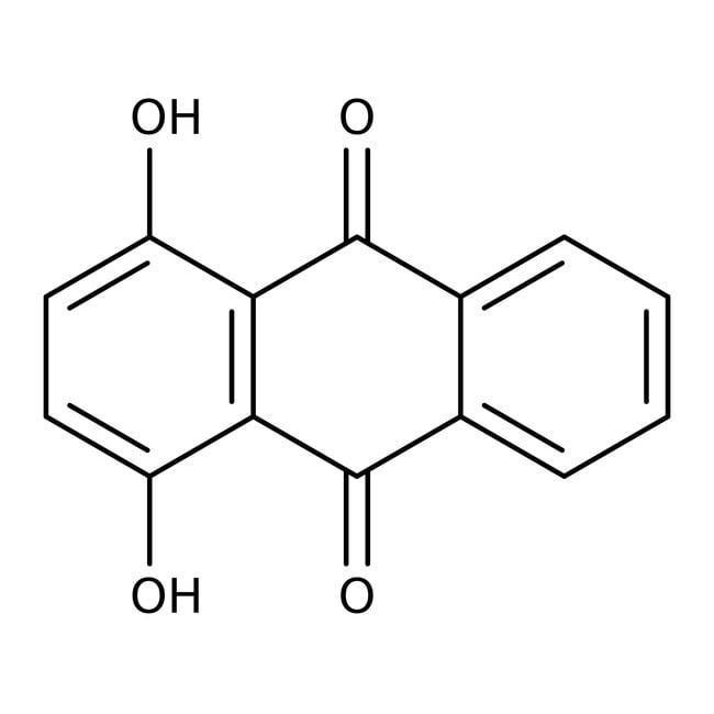 1,4-Dihydroxyanthraquinone, 96%, ACROS Organics™ 100g; Glass bottle 1,4-Dihydroxyanthraquinone, 96%, ACROS Organics™