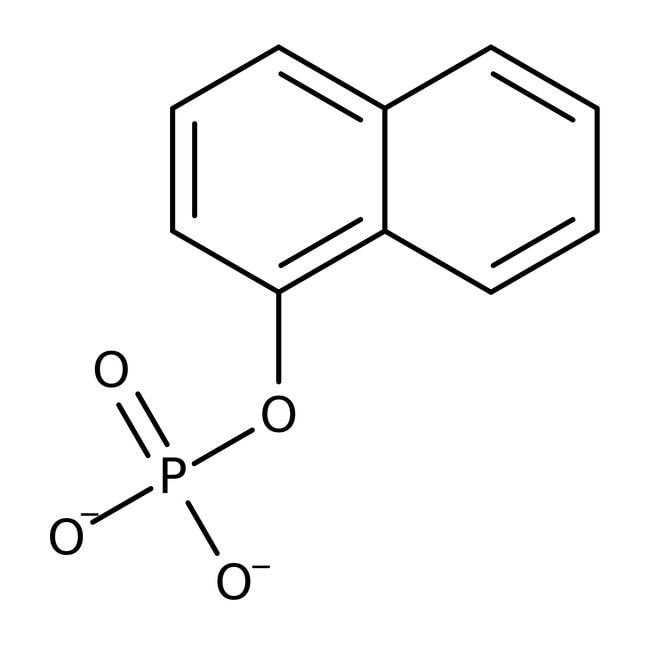 Alfa Aesar™1-Naphthyl phosphate monosodium salt monohydrate, 97+% 25g Alfa Aesar™1-Naphthyl phosphate monosodium salt monohydrate, 97+%