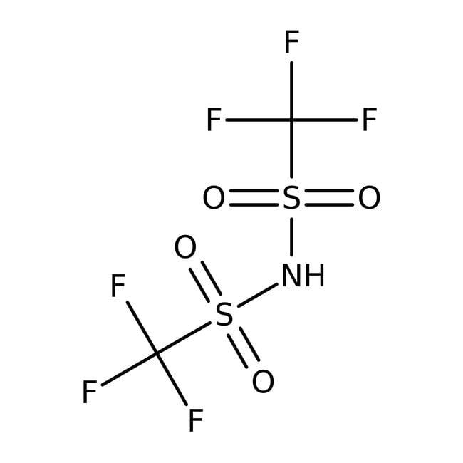 Bis(trifluoromethanesulfonyl)imide, 99%, ACROS Organics™ 5g; Glass bottle Bis(trifluoromethanesulfonyl)imide, 99%, ACROS Organics™