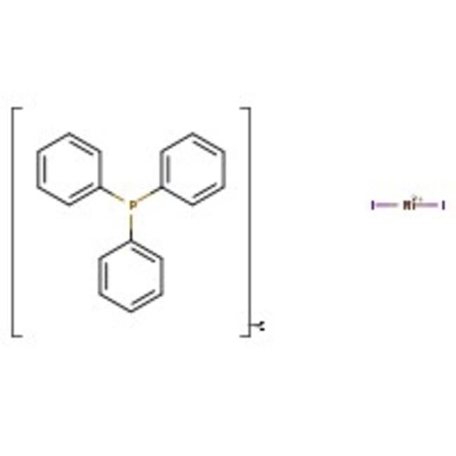 Alfa Aesar™Diiodobis(triphenylphosphine)nickel(II) 2g Alfa Aesar™Diiodobis(triphenylphosphine)nickel(II)