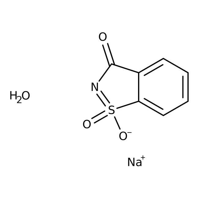 Alfa Aesar™Sal sódica de sulfimida o-benzoica, hidrato, 99% 5000g Alfa Aesar™Sal sódica de sulfimida o-benzoica, hidrato, 99%