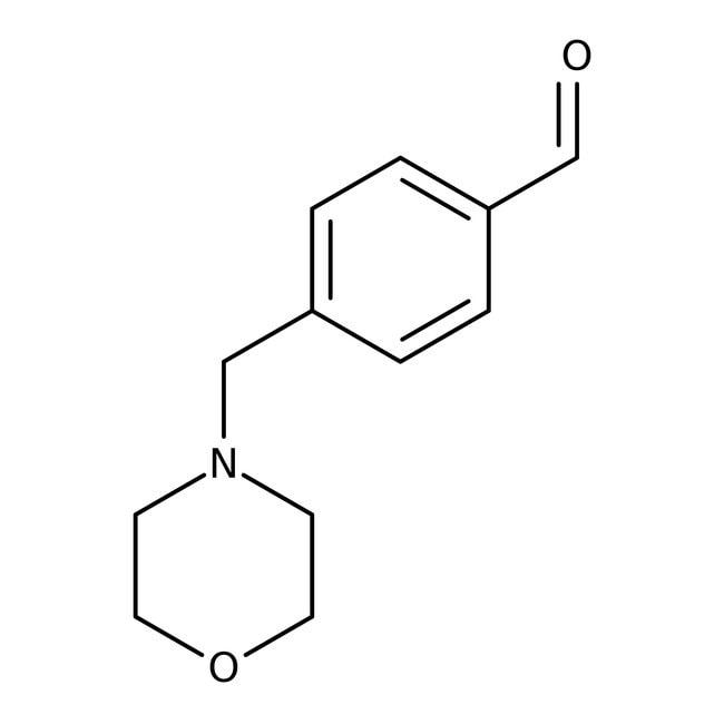 4-(Morpholinomethyl)benzaldehyde, 97%, Maybridge Amber Glass Bottle; 250mg 4-(Morpholinomethyl)benzaldehyde, 97%, Maybridge