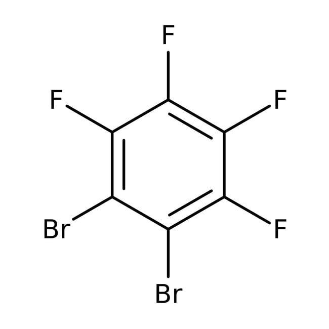 1,2-Dibromotetrafluorobenzene, 99%, ACROS Organics™ 5g; Glass bottle 1,2-Dibromotetrafluorobenzene, 99%, ACROS Organics™
