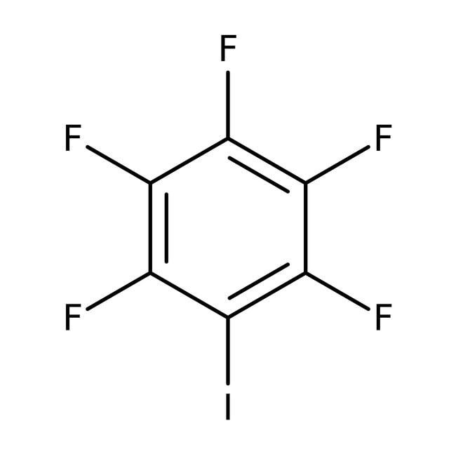 Iodopentafluorobenzene, 99%, stabilised over copper, ACROS Organics™ 5g Iodopentafluorobenzene, 99%, stabilised over copper, ACROS Organics™