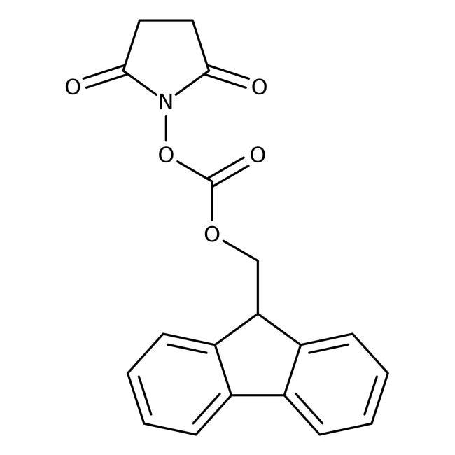 N-(9H-Fluoren-2-ylmethoxycarbonyloxy)succinimide, 98%, ACROS Organics™ 25g; Glass bottle N-(9H-Fluoren-2-ylmethoxycarbonyloxy)succinimide, 98%, ACROS Organics™