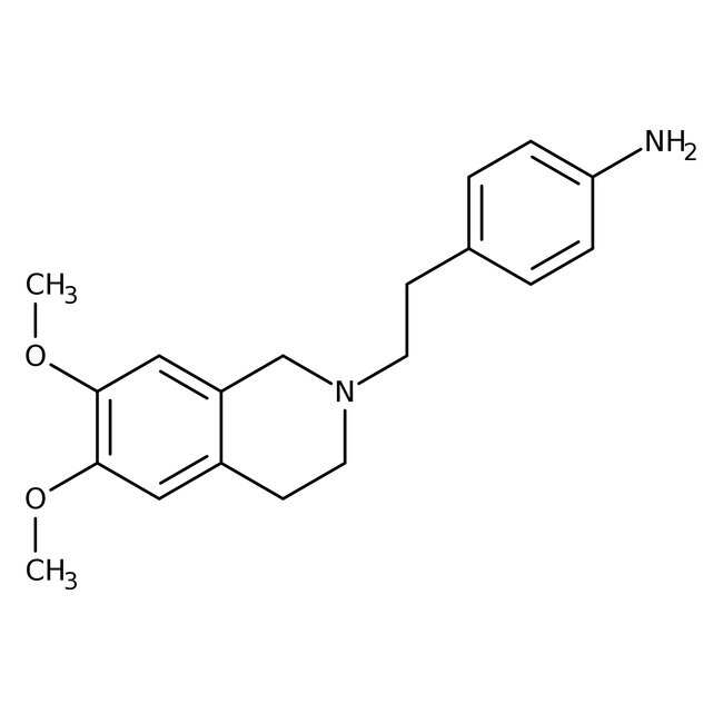 4-[2-(6,7-Dimethoxy-1,2,3,4-tetrahydroisoquinolinyl)ethyl]aniline, 97%, Alfa Aesar™