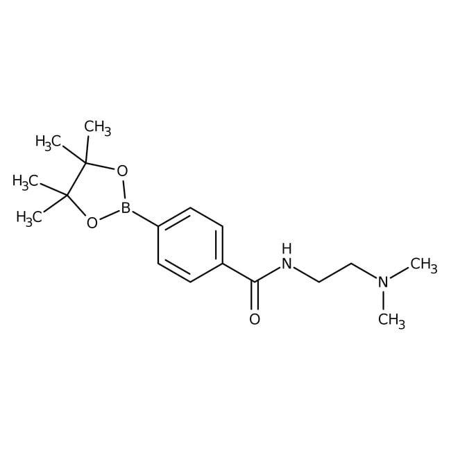 4-{[2-(Dimethylamino)ethyl]carbamoyl}phenylboronic acid pinacol ester, 95%, ACROS Organics™ 5g 4-{[2-(Dimethylamino)ethyl]carbamoyl}phenylboronic acid pinacol ester, 95%, ACROS Organics™