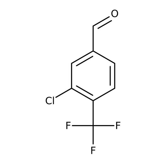 Alfa Aesar™3-Chlor-4-(trifluormethyl)benzaldehyd, 97% 1g Alfa Aesar™3-Chlor-4-(trifluormethyl)benzaldehyd, 97%