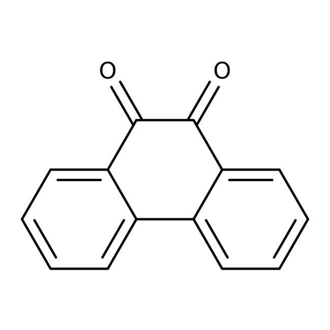 Phenanthrenequinone, 95%, ACROS Organics™ 100g; Glass bottle Phenanthrenequinone, 95%, ACROS Organics™