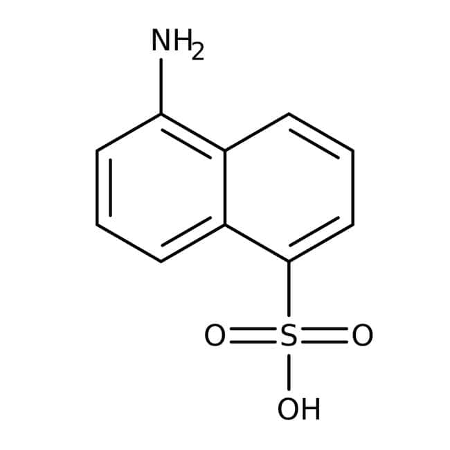 Alfa Aesar™ 5-Aminonaphthalene-1-sulfonic acid, tech. 90%: Naphthalene sulfonic acids and derivatives Naphthalenes