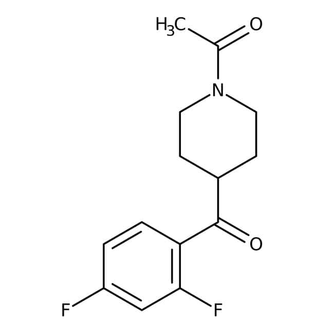 Alfa Aesar™1-Acetyl-4-(2',4'-difluorobenzoyl)piperidine, 96% 5g Alfa Aesar™1-Acetyl-4-(2',4'-difluorobenzoyl)piperidine, 96%