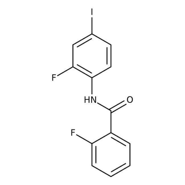Alfa Aesar™2-Fluoro-N-(2-fluoro-4-iodophenyl)benzamide, 97% 250mg Alfa Aesar™2-Fluoro-N-(2-fluoro-4-iodophenyl)benzamide, 97%