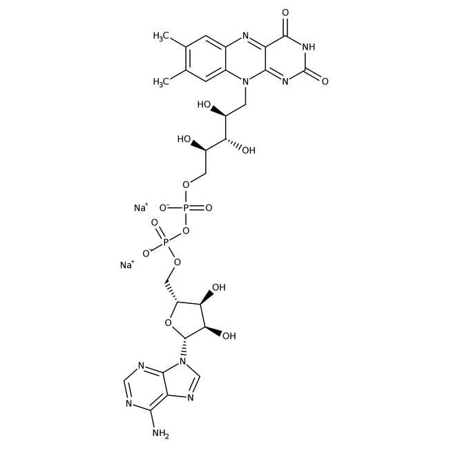 Flavin-Adenin-Dinucleotid-Dinatriumsalzhydrat, ≥95% (Trockensubstanz), Affymetrix/USB™ 500mg; Kunststoffflasche Flavin-Adenin-Dinucleotid-Dinatriumsalzhydrat, ≥95% (Trockensubstanz), Affymetrix/USB™