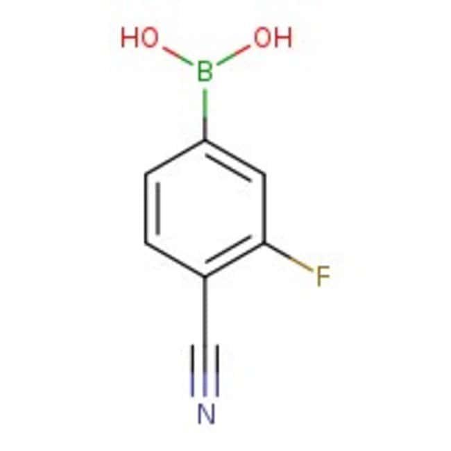 Alfa Aesar™Acide 4-cyano-3-fluorobenzèneboronique, 97% 1g Alfa Aesar™Acide 4-cyano-3-fluorobenzèneboronique, 97%