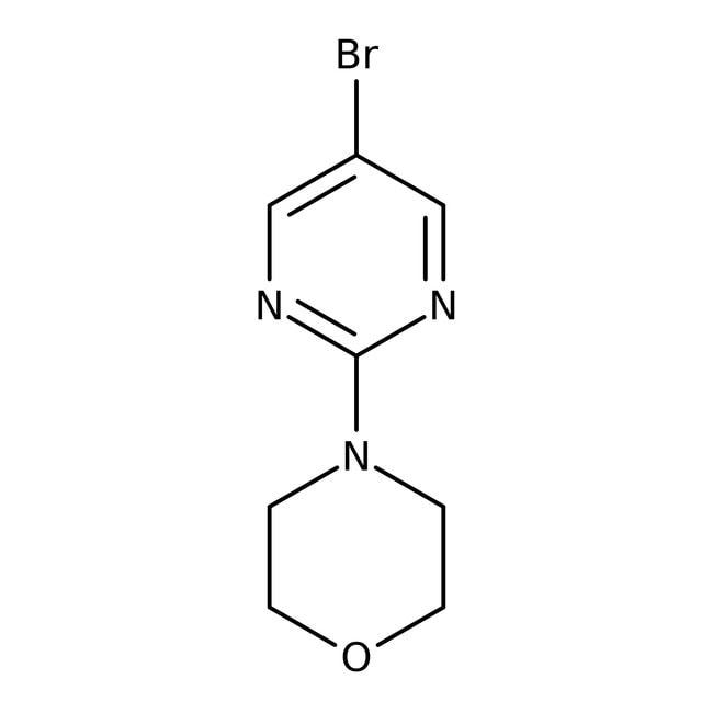 4-(5-Bromopyrimidin-2-yl)morpholine, 97%, ACROS Organics™ 5g; Glass bottle 4-(5-Bromopyrimidin-2-yl)morpholine, 97%, ACROS Organics™