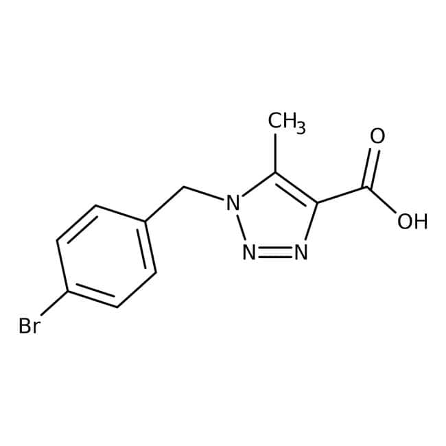 1-(4-Bromobenzyl)-5-methyl-1H-1,2,3-triazole-4-carboxylic acid, 97%, Maybridge 5g 1-(4-Bromobenzyl)-5-methyl-1H-1,2,3-triazole-4-carboxylic acid, 97%, Maybridge