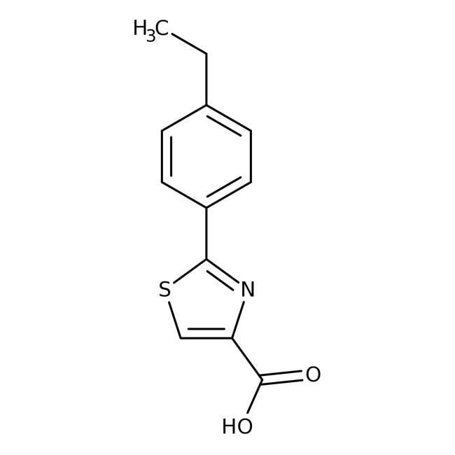 Alfa Aesar™2-(4-Ethylphenyl)thiazole-4-carboxylic acid, 97%