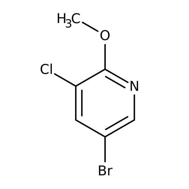 5-Bromo-3-chloro-2-methoxypyridine, 97%, ACROS Organics™