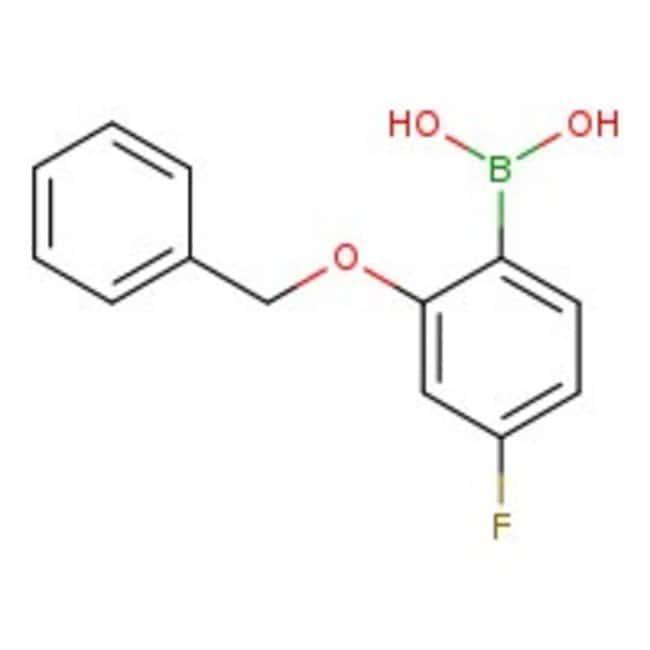 Alfa Aesar™2-Benzyloxy-4-fluorobenzeneboronic acid, 98%: Boronic acid derivatives Organic acids and derivatives