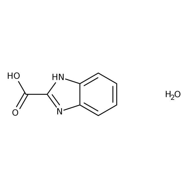 1H-Benzimidazole-2-carboxylic acid hydrate, 90%, Maybridge™ Amber Glass Bottle; 5g 1H-Benzimidazole-2-carboxylic acid hydrate, 90%, Maybridge™
