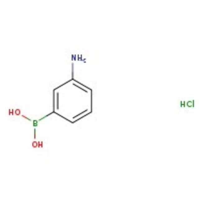 3-Aminophenylboronic acid hydrochloride, 98%, ACROS Organics™ 5g; Glass bottle 3-Aminophenylboronic acid hydrochloride, 98%, ACROS Organics™