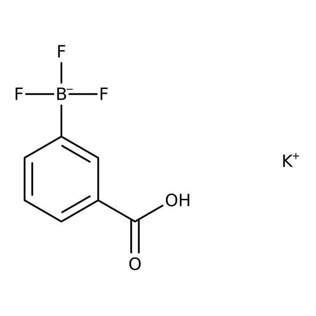 Alfa Aesar™Potassium 3-carboxyphenyltrifluoroborate, 95% 1g Alfa Aesar™Potassium 3-carboxyphenyltrifluoroborate, 95%