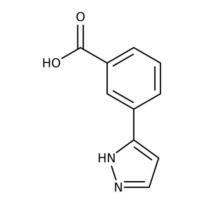3-(1H-Pyrazol-3-yl)benzoic acid, 97%, Maybridge™ Amber Glass Bottle; 1g 3-(1H-Pyrazol-3-yl)benzoic acid, 97%, Maybridge™