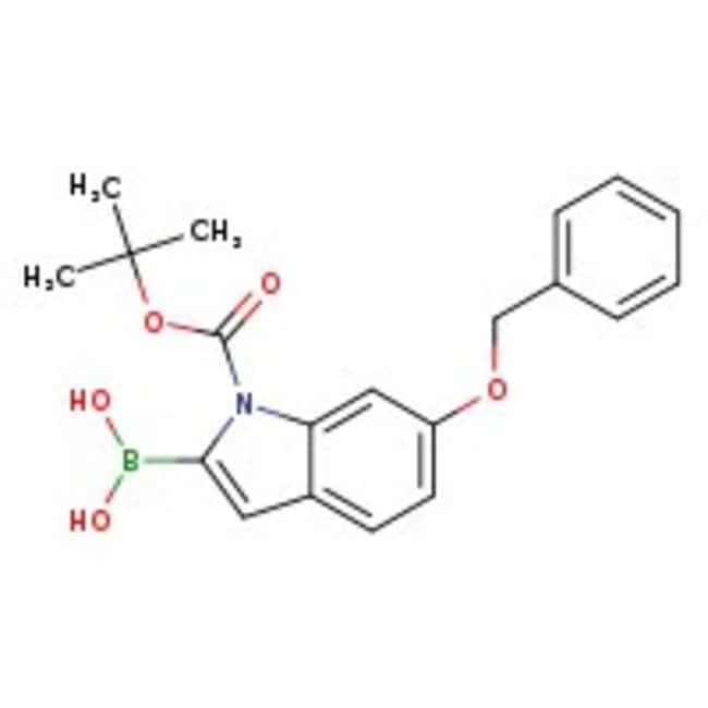 6-Benzyloxy-1-BOC-indole-2-boronic acid, 97%, ACROS Organics