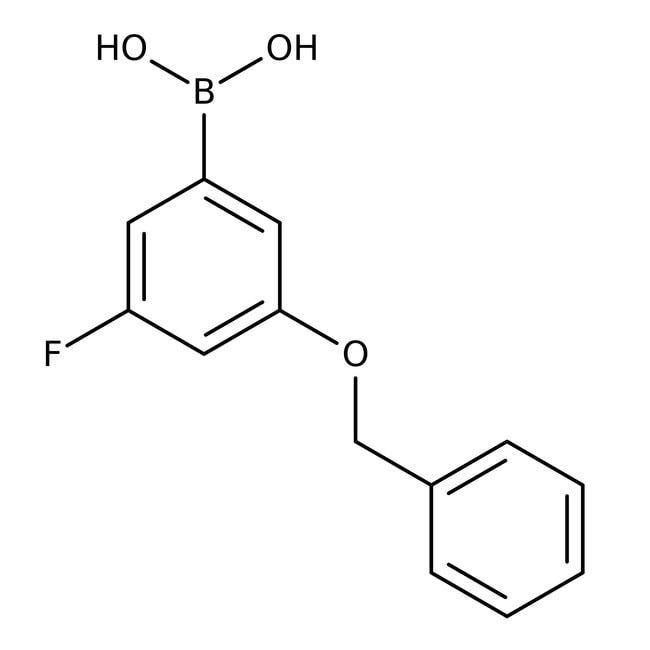 Alfa Aesar™3-Benzyloxy-5-fluorobenzeneboronic acid, 98% 1g Alfa Aesar™3-Benzyloxy-5-fluorobenzeneboronic acid, 98%