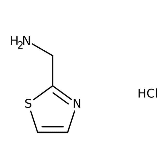 1,3-thiazol-2-ylméthylamine, 97 %, Maybridge Flacon en verre ambré ; 5 g 1,3-thiazol-2-ylméthylamine, 97 %, Maybridge