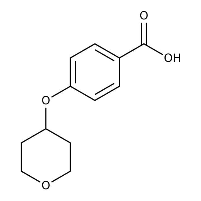 4-(Tetrahydropyran-4-yloxy)benzoic acid, 97%, Maybridge™