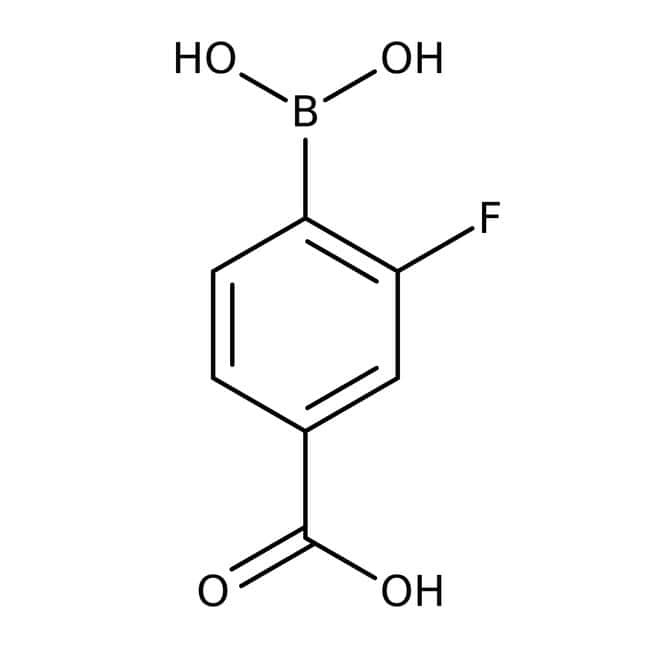 Alfa Aesar™4-Carboxy-2-fluorobenzeneboronic acid, 97%