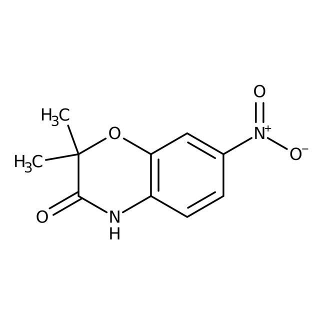 Alfa Aesar™2,2-Dimethyl-7-nitro-2H-1,4-benzoxazin-3(4H)-on, 97% 250mg Alfa Aesar™2,2-Dimethyl-7-nitro-2H-1,4-benzoxazin-3(4H)-on, 97%