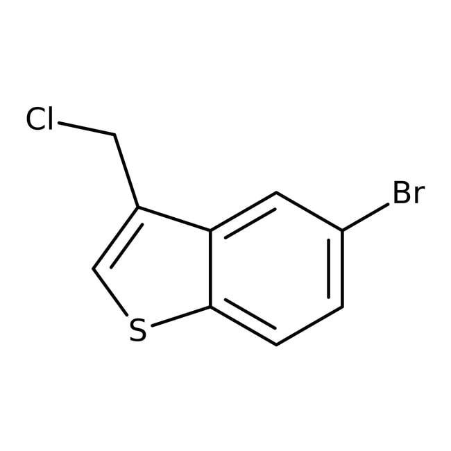 5-Bromo-3-(chloromethyl)-1-benzothiophene, ≥97%, Maybridge™ Amber Glass Bottle; 1g 5-Bromo-3-(chloromethyl)-1-benzothiophene, ≥97%, Maybridge™