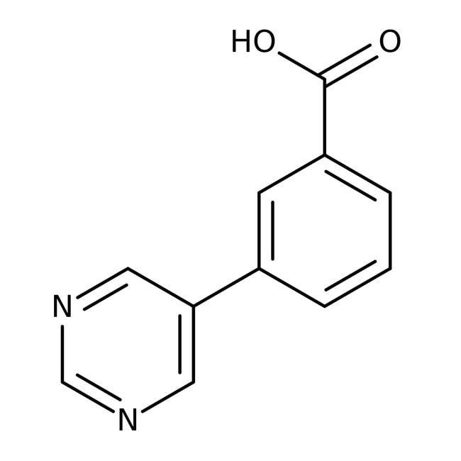 3-Pyrimidin-5-ylbenzoesäure, ≥97%, Maybridge Braunglasflasche, 250mg 3-Pyrimidin-5-ylbenzoesäure, ≥97%, Maybridge