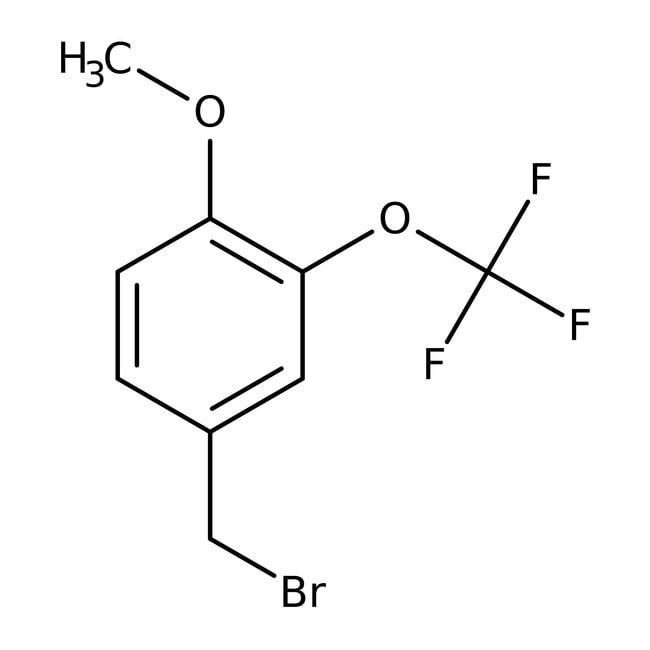 Alfa Aesar™4-Methoxy-3-(trifluoromethoxy)benzyl bromide, 97% 1g Alfa Aesar™4-Methoxy-3-(trifluoromethoxy)benzyl bromide, 97%