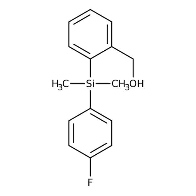 2-[(4-Fluorophenyl)dimethylsilyl]benzyl alcohol, 95%, Alfa Aesar™ 5g 2-[(4-Fluorophenyl)dimethylsilyl]benzyl alcohol, 95%, Alfa Aesar™