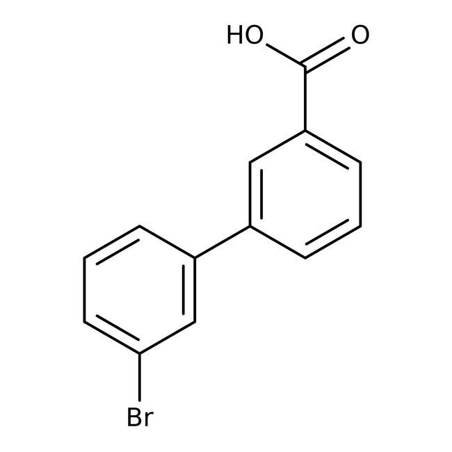Alfa Aesar™3'-Bromobiphenyl-3-carboxylic acid, 95% 5g Alfa Aesar™3'-Bromobiphenyl-3-carboxylic acid, 95%