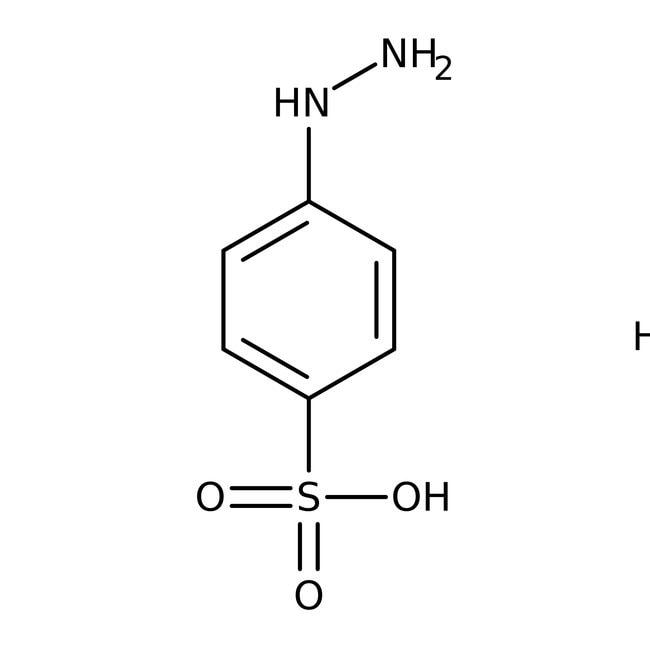 4-Hydrazinobenzenesulfonic acid, hemihydrate, 98%, ACROS Organics