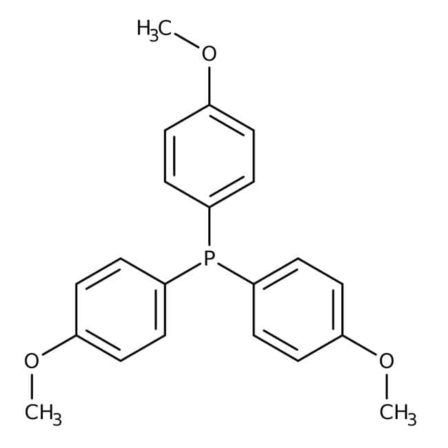 Tris(4-methoxyphenyl)phosphine, 95%, ACROS Organics™: Benzene and substituted derivatives Benzenoids