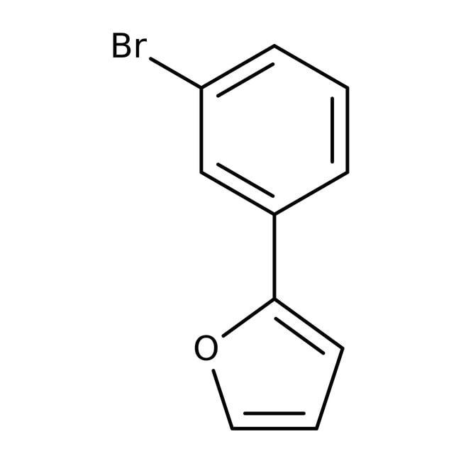 2-(3-Bromophenyl)furan, ≥97%, Maybridge™ Amber Glass Bottle; 1g 2-(3-Bromophenyl)furan, ≥97%, Maybridge™