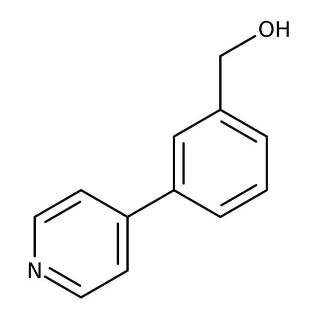 (3-Pyrid-4-ylphenyl)methanol, 97%, Maybridge Amber Glass Bottle; 1g (3-Pyrid-4-ylphenyl)methanol, 97%, Maybridge