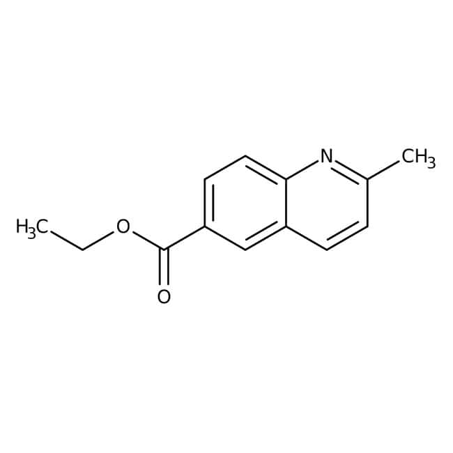 Alfa Aesar™ Ethyl 2-methylquinoline-6-carboxylate, 97% 5g Alfa Aesar™ Ethyl 2-methylquinoline-6-carboxylate, 97%