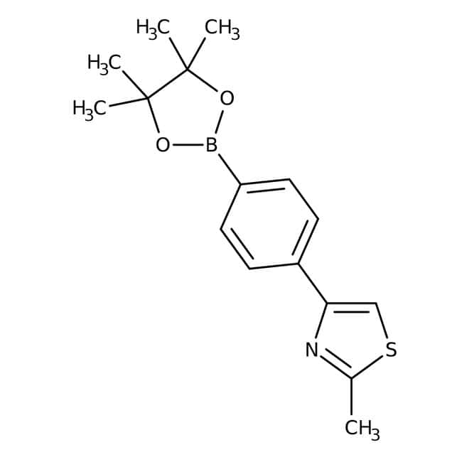 2-Methyl-4-[4-(4,4,5,5-tetramethyl-1,3,2-dioxaborolan-2-yl)phenyl]-1,3-thiazole, 97%, Maybridge™: Thiazoles Azoles