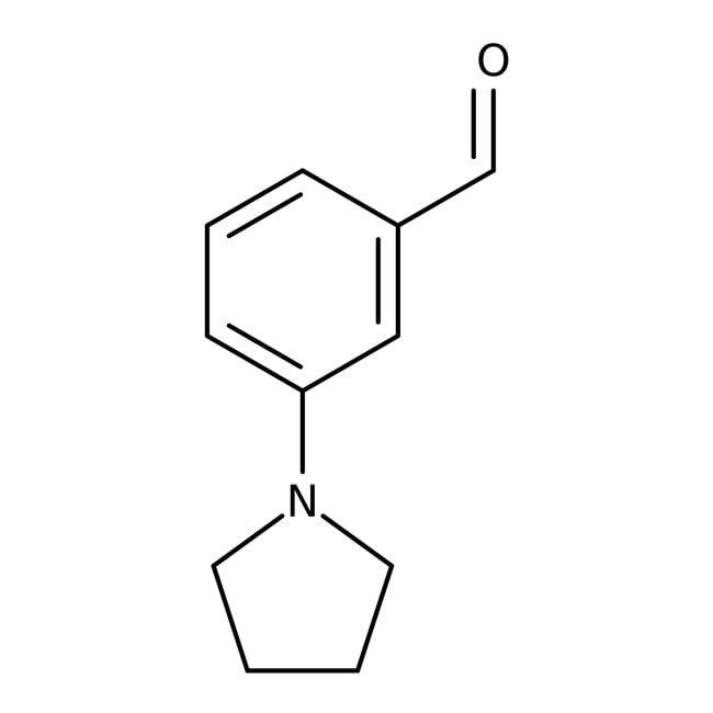 3-Pyrrolidin-1-ylbenzaldehyde, ≥95%, Maybridge 5g 3-Pyrrolidin-1-ylbenzaldehyde, ≥95%, Maybridge