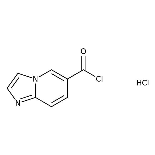 Imidazo[1,2-a]pyridine-6-carbonyl chloride hydrochloride, 95%, Alfa Aesar™ 1g Imidazo[1,2-a]pyridine-6-carbonyl chloride hydrochloride, 95%, Alfa Aesar™