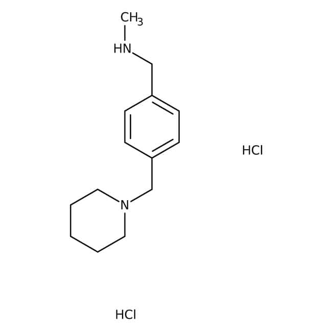 N-Methyl-N-[4-(piperidin-1-ylmethyl)benzyl]amine dihydrochloride, Tech., Maybridge™ Amber Glass Bottle; 1g N-Methyl-N-[4-(piperidin-1-ylmethyl)benzyl]amine dihydrochloride, Tech., Maybridge™