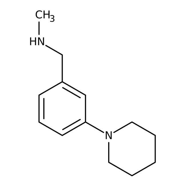 n-methyl-n-(3-piperidin-1-ylbenzyl)amine, 90%, Maybridge Amber Glass Bottle; 250mg n-methyl-n-(3-piperidin-1-ylbenzyl)amine, 90%, Maybridge
