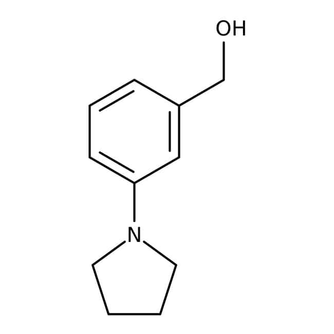 (3-Pyrrolidin-1-ylphenyl)methanol, 97%, Maybridge™ 250mg (3-Pyrrolidin-1-ylphenyl)methanol, 97%, Maybridge™